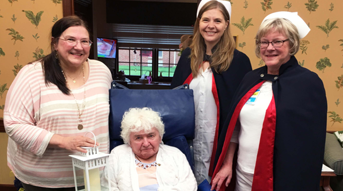 Nursing Honor Guard Recognizes Patient For Her Commitment To Nursing