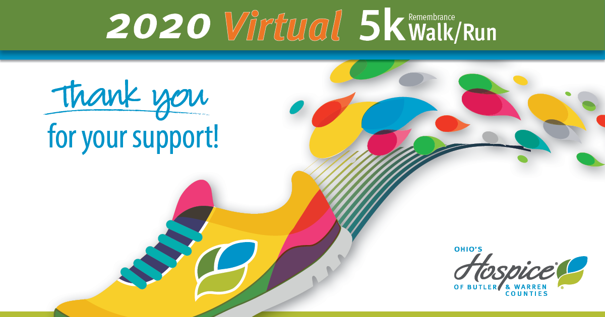 2020 Virtual Annual 5k Remembrance Walk/Run Raises More Than $18,000 For Patient Care And Services