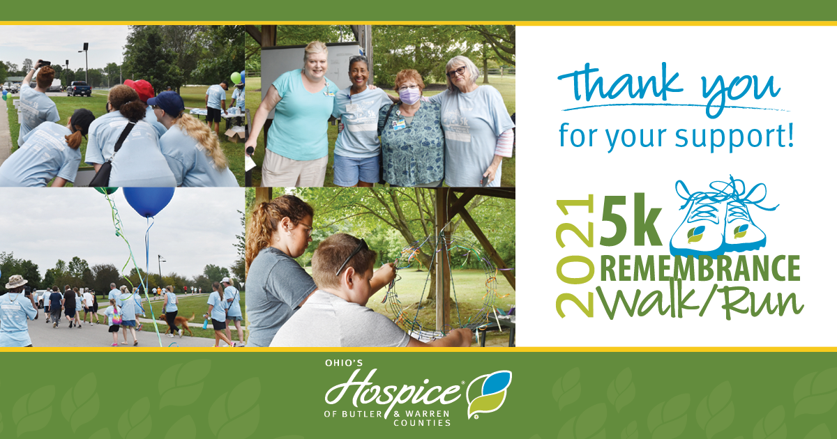 Thank You For Your Support: 2021 5k Remembrance Walk/Run